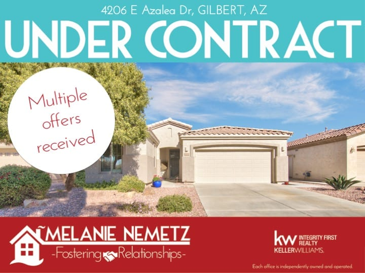 Trilogy Home for Sale Under Contract