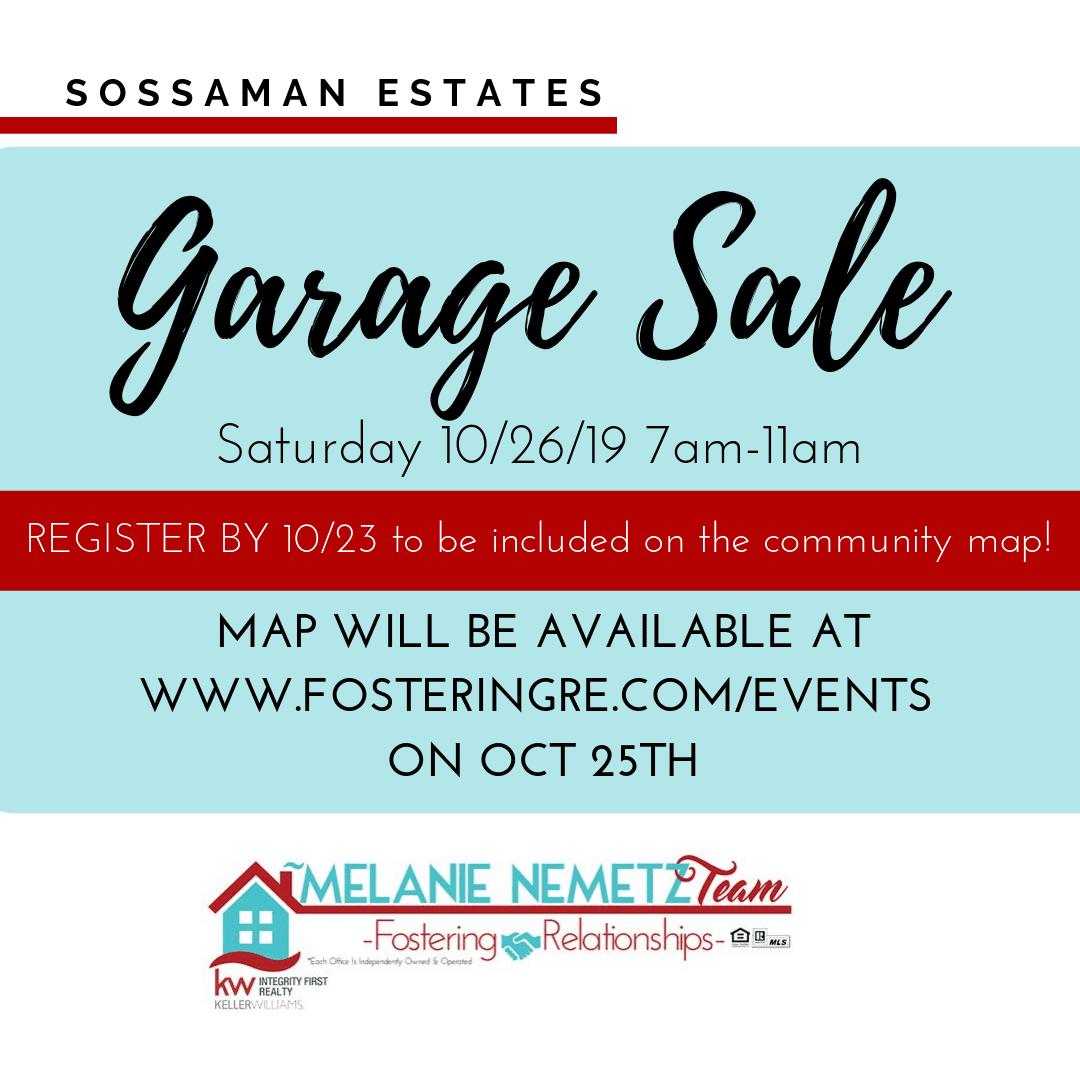 Sossaman Estates Garage Sale